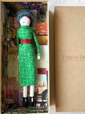 Handmade Doll – Christmas Frock